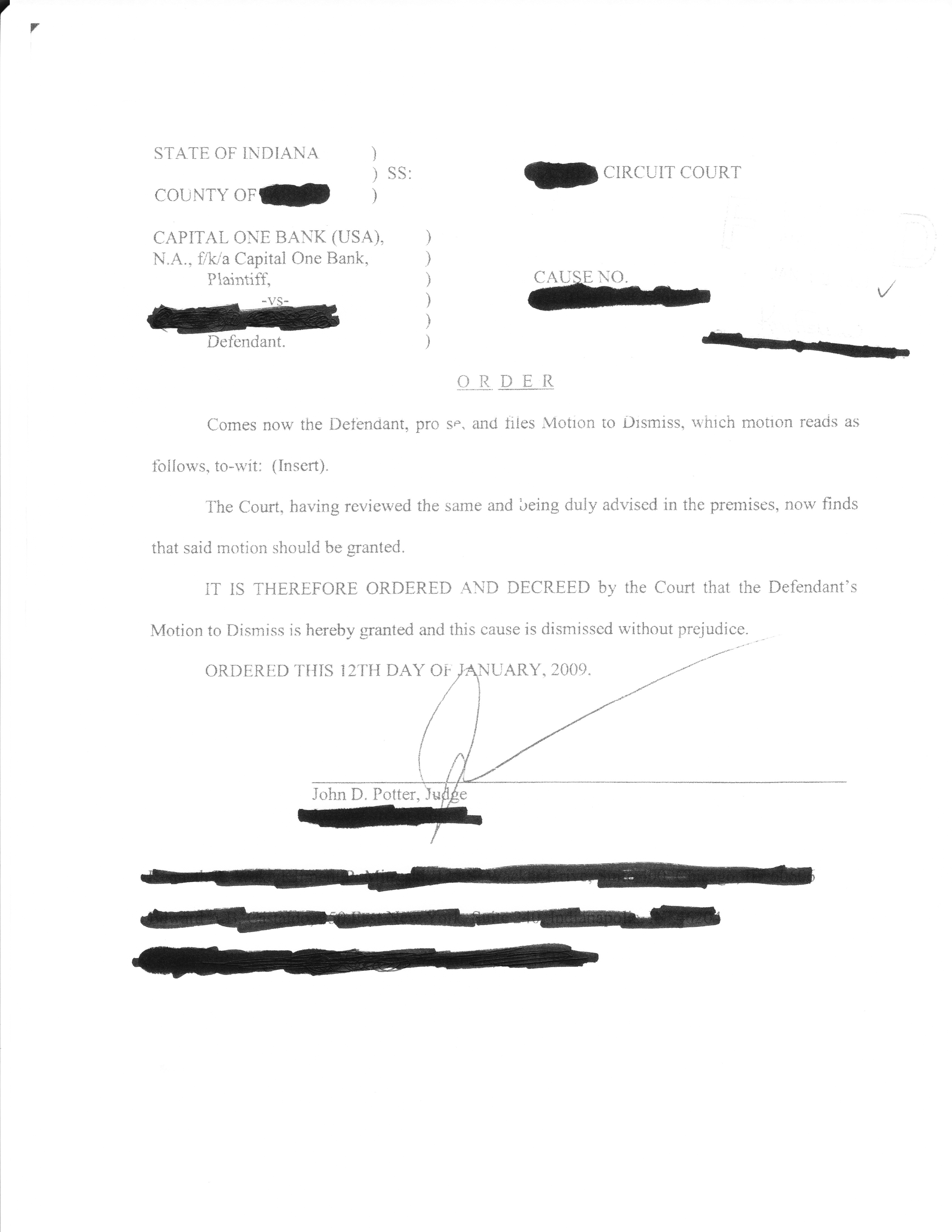 Capital One: Affidavit of Debt Page 2