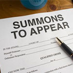 Court Pleading Paper Answering a Summons