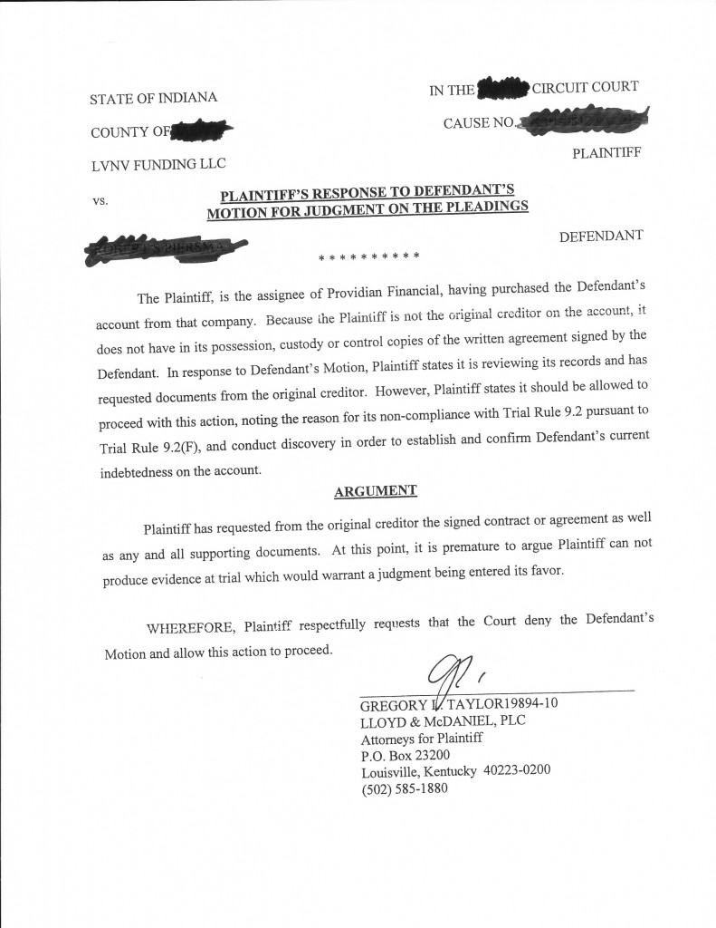 Lvnv defendant response to request to admissions how to for Motion to dismiss with prejudice template